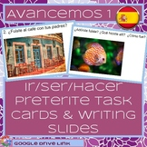 Ir, ser, and hacer preterite conversation or task cards (A