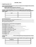 Avancemos (Book 1) Unidad 1 Review Sheet