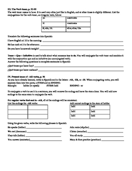 Avancemos (Book 1) Unidad 2 Review Sheet