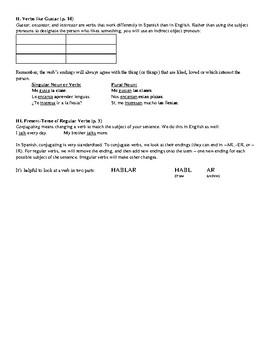 Avancemos Book 3 - All Unidad Review Sheets Bundle