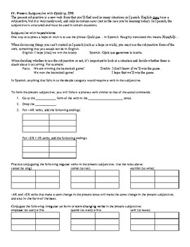Avancemos (Book 2) Unidad 6 Review Sheet