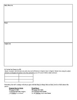 Avancemos (Book 3) - Leccion Preliminar Review Sheet