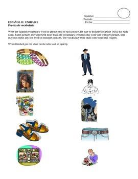 Avancemos II Unidad 3 Vocabulary Quiz