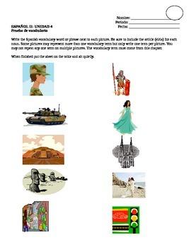 Avancemos 2, Unit 4 Vocabulary Quiz