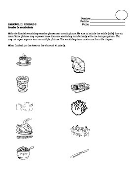 Avancemos 2, Unit 5 Vocabulary Quiz