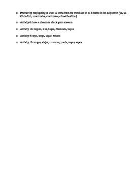Avancemos III Unidad 4 Vocabulary Quiz
