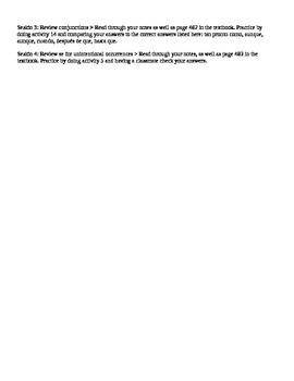Avancemos III Unidad 8 Vocabulary Quiz