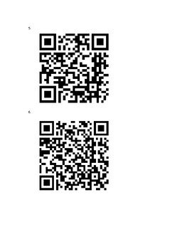 Avancemos III Unit 1 Lesson 1 QR Codes Vocabulary Scavenger Hunt- Camping