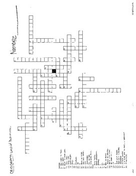 Avancemos Leccion Preliminar Crossword Puzzle