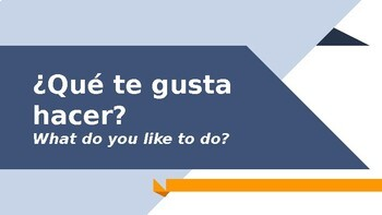 Avancemos Level 1, Chapter 1.1 Vocabulary Powerpoint: Que te gusta?