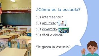 Avancemos Level 1, Chapter 2.2 Vocabulary Powerpoint: En la escuela