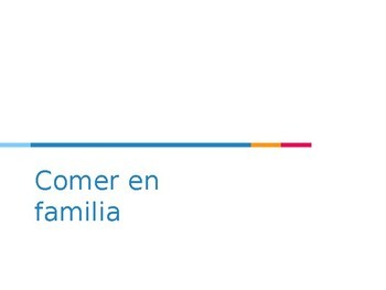 Avancemos Level 1, Chapter 3.1 Vocabulary Powerpoint: Comer en familia