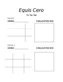 Tic Tac Toe- Equis cero- Conjugation Game