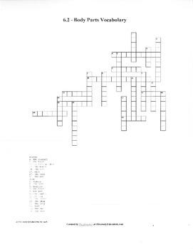 Avancemos Level 1 Unit 6 Vocab. Crosswords