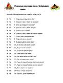 """Avancemos Level 3: Unidad 1 """"Preguntas personales con el v"""
