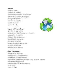 Avancemos Level 3 Unidad 3 Leccion 1 Vocabulary List