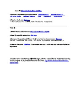 Avancemos Unit 6 Lesson 1 Internet Activities Bundle