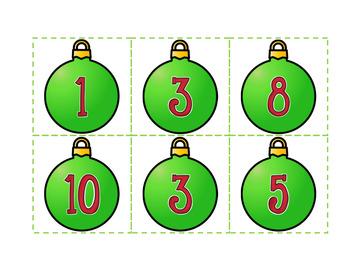 Avant et après nombres 1 à 20 (Noël)