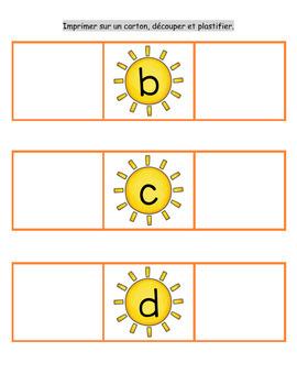 Avant et après nombres et alphabet