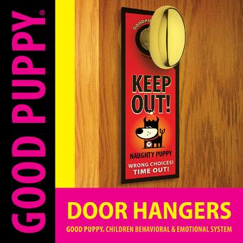 Door Hangers . Child Behavioral & Emotional Tools by GOOD PUPPY