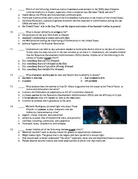 Avatar Film (2009) 15-Question Multiple Choice Quiz
