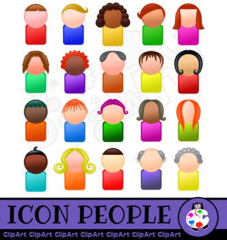 Avatar Icon People Clip Art Set