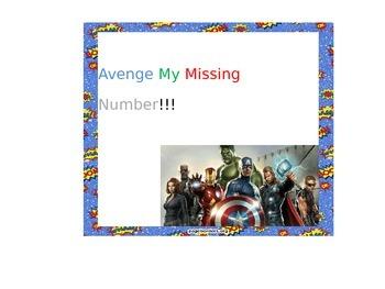 Avenge my missing Number