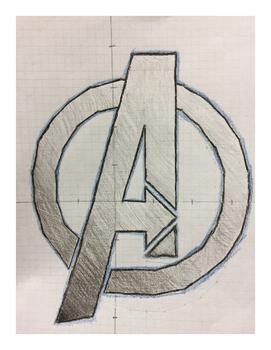 Avenger Logo Coordinate Drawing