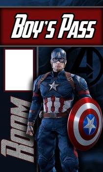 Avengers Boy's Bathroom Pass