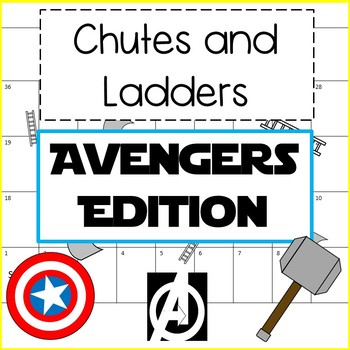 Avengers Edition Chutes and Ladders Game and Activity - Super Fun!