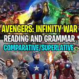 AVENGERS: INFINITY WAR Worksheet - Comparative and Superla