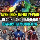 AVENGERS: INFINITY WAR Worksheet - Comparative and Superla