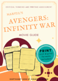 Avengers: Infinity War (2018) Movie Guide Packet + Activities + Sub Plan