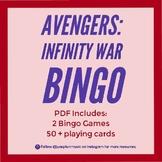 Avengers: Infinity War Bingo - No Prep - Ready to Print -