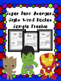 Avengers Kindergarten Sight Word Freebie