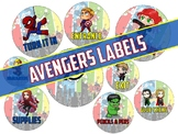 Avengers Labels