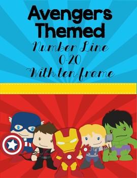 Super Hero Avengers Themed- Number Line