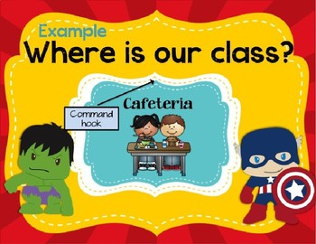 Super Hero Avengers- Where are we labels *Editable