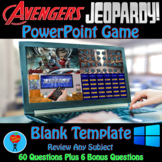 Superhero (Avengers) & Jeopardy PowerPoint Game Bundle - 2 Customizable Games