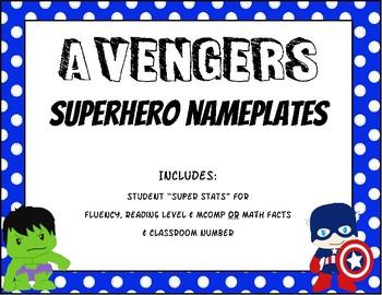 Avengers Superhero Nameplates