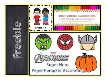 Avengers Themed Paper Pumpgin Decorations