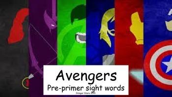 Avengers super hero pre-primer sight word pack