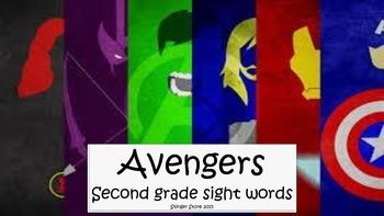 Avengers super hero second grade sight words