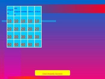 Aventuras Vascas video series Jeopardy game
