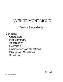 Avenue Montaigne-French Study Guide
