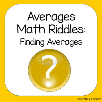 Finding Averages Math Riddles