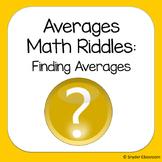 Finding Averages Math Riddles