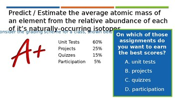 Average Atomic Mass:  Making Predictions