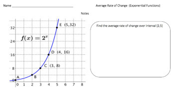 Average Rate of Change (Google Form, Video Lesson & Notes!)