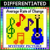 Average Rate of Change - Mystery Picture Color! (tables, equations, and graphs)